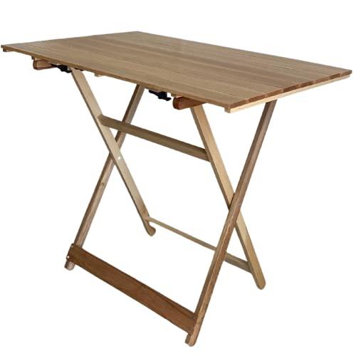 ZIK Mesa de jardín plegable para exterior, ahorra espacio, altura regulable, de...