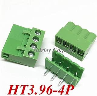 Davitu 50set Terminal Blocks connector kits 3.96mm 4pins including plug vertical HT3.96-4P The plug+Curved needle seat