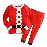 Pigiami due Pezzi Ragazzi Ragazze Manica Lunga Pigiama Top + Pantaloni Lunghi Set di Abbigliamento da Notte per Bambini Carino Stampa Cotone Outfits 4-5 Anni