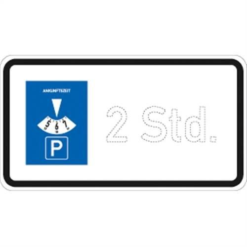 Verkehrszeichen VZ1040-32, Parkscheibe Std, Alu, RA1, 33x60cm Verkehrsschild