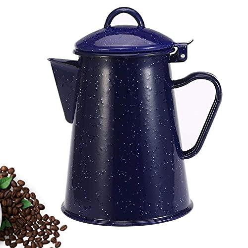 yunyu Hervidores de Estufa 0 8L / 1 2L / 1 8L / 2 4L Cafetera esmaltada Tetera de Mano Tetera esmaltada Cocina de inducción Estufa de Gas Universal para Cocina casera @ 2400Ml