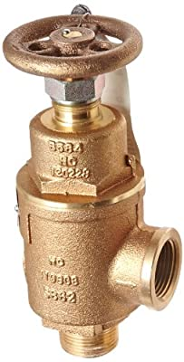 """Kunkle 0019-E12-MG0225 Bronze Liquid Relief Valve, 225 Preset Pressure, 1"""" NPT Female Inlet x NPT Male Outlet from Tyco Valves & Controls"""