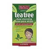 Beauty Formulas Tiras de poro nasal de limpieza profunda del árbol de té...