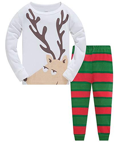 TEDD Weihnachten Kinder Schlafanzug Jungen Pyjama Langarm Baumwolle Mädchen Zweiteilig Schlafanzüge Set Winter Nachtwäsche Größe 2-12 Jahre