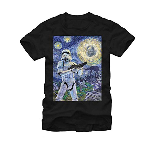 Star Wars- Stormy Night T-Shirt Size L, Black, Size Large