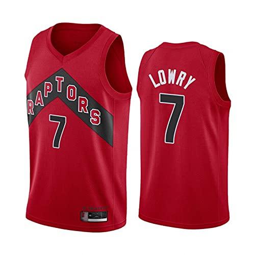 Ropa de Baloncesto de Verano para Hombres y Mujeres, se Aplica a los Raptors, No. 43 Siakam, No. 23 Vanvleet, No. 7 Lowry, No. 2 Leonaro, Camisetas de Fan. (XXL,D)