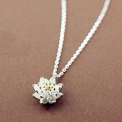 FACAIBA Collar Cadena Lotus Colgante Collar & Joyas Collar