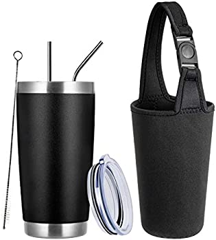 Tumzak 20oz Stainless Steel Coffee Tumbler with Lid and Straw