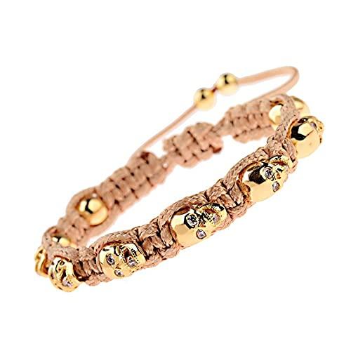 8 piezas de joyas de pulsera de cadena de cadena de cadena única única de la abalina del cráneo