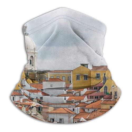 Lsjuee Vista del casco antiguo con cúpula Unisex Bandanas Bufanda Diadema Pasamontañas A prueba de viento A prueba de polvo Sombreros Polainas para el cuello Motocicleta Senderismo Ciclismo Esquí Sn
