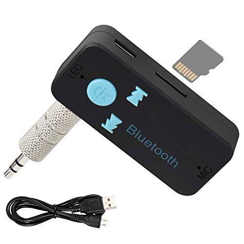 Receptor Bluetooth Coche Amplificador HiFi 4.1 Handsfree Car Kits per Audio Adaptador con 3,5 mm Aux Jack para Llamada y Disfrutar Musica para Casa y Sistema de Audio Estéreo de Coche Manos Libre