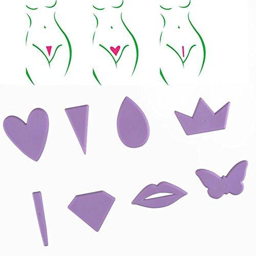 LXDHFED Bikini Shaping Tool,Intimate Shaping Tool Rasierschablone Brasilianisch Für Den Intimbereich Frauen Männer Schamhaar Rasierer-8Pcs