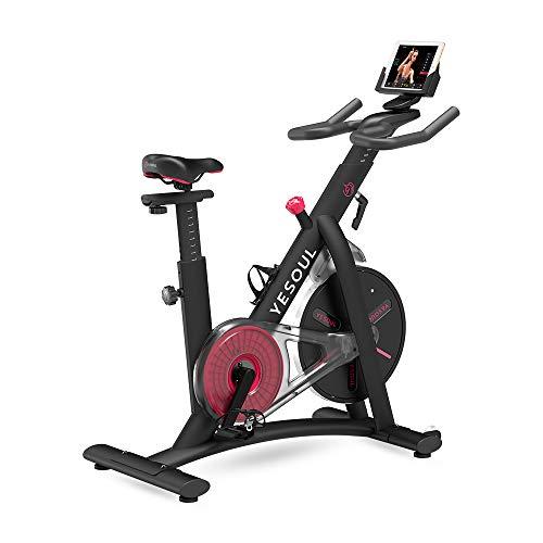 Xplorer Yesoul S3 Nero, Spinning Bike Stazionaria per Esercizi Cardio da Casa, Trasmissione a Cinghia, Sedile Confortevole, Resistenza Magnetica Regolabile, con Ruote
