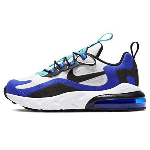 Empeine de piel y tejido blanco/negro/azul con sistema Air visible. Blanco Size: 34 EU