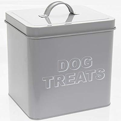 Lesser & Pavey Sweet Home Dog Treats Tin-Grey, H20cm