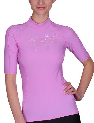 iQ-UV Damen UV-Shirt IQ 300 Watersport Ocean, Violet, XXL