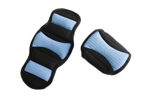 FA Sports Fit Gewichtsmanschetten, schwarz/blau, 24x12x2 cm