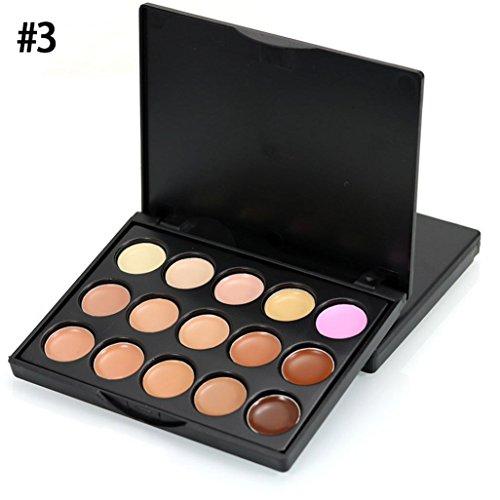 Gaddrt MIni 15 couleurs visage cache-cernes crème camouflage palette Contour (C)