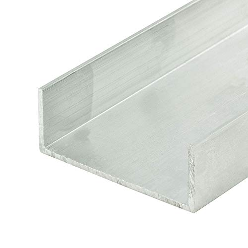 """Outwater Alu575-M Mill Fin 1-7/8"""" Inside Dimension Aluminum U-Channel/C-Channel 36 Inch Lengths (Pack of 4)"""