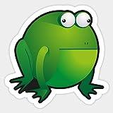 Derpy Frog - Sticker Graphic - Decal Sticker Sticker
