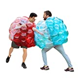 SUNSHINEMALL 2 PC Bumper Balls, Inflatable Body Bubble Ball Sumo Bumper Bopper Toys, Heavy Duty Durable PVC Vinyl Kids Adults Physical Outdoor Active Play (36inch, New red+Blue)
