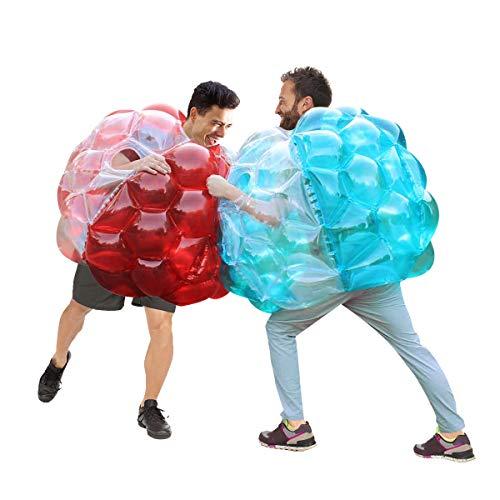 N/W - Palla gonfiabile per bolle del corpo, colore: Rosso/Pura + Blu / Pore, 36 pollici