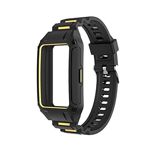 Correa de cierre rápido para reloj inteligente, lavable, de silicona, compatible con Huawei Band 6, accesorios de reloj, pulseras de goma de silicona, cinturón impermeable, para hombre y mujer