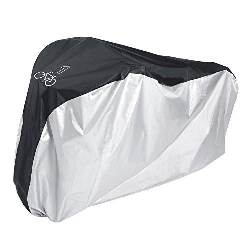 Telo protettivo per bicicletta, 1 bicicletta, colore nero e argento