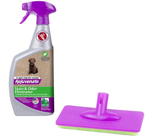 Product Image of the Rejuvenate Click N Clean Carpet Scrubber + 32 oz Bio-Enzymatic Carpet Cleaner Spot and Stain Remover