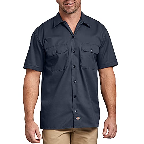 Dickies Work Chemise Manches courtes Homme, Bleu (Dark Navy 1), XX-Large