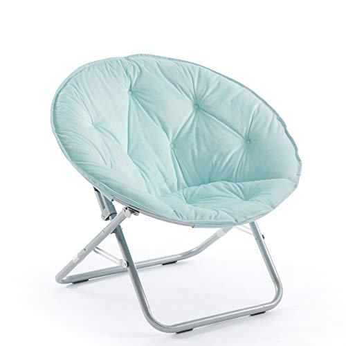 Urban Shop Micromink Saucer Chair, Light Blue Mint