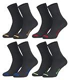 47-50 - 8 Paar Business Socken, Anzugsocken ohne Gummib& Baumwolle - Herren Damen - 8er Pack - anthrazit-farbige Spitze