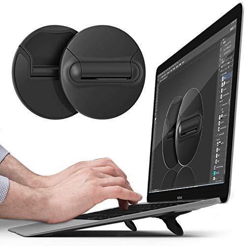 Soporte portátil para ordenador portátil plegable invisible, ligero y universal, con ventilación, compatible con MacBook Pro, MacBook, MacBook Air, tabletas