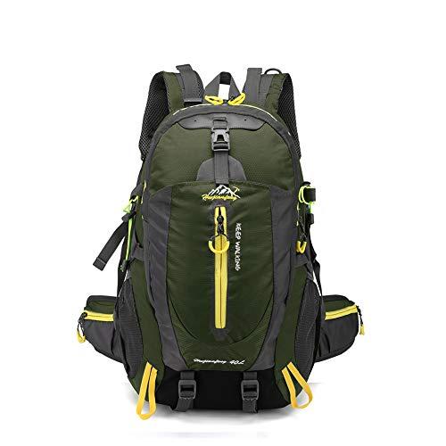 バックパック40Lリュックサック登山ザックアウトドア旅行用防水軽量折りたたみ収納性抜群ツーリングギフトアーミーグリーン65 / 40L junlv