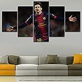 Drucke auf Leinwand 5 Panel Argentinien Lionel Messi