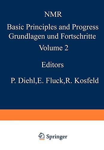NMR-Untersuchungen an Komplexverbindungen (NMR Basic Principles and Progress) (German Edition) (NMR Basic Principles and Progress (2), Band 2)