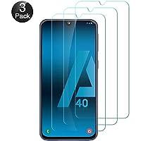 Hanbee Protector de Pantalla para Samsung Galaxy A40 Cristal Templado para Samsung Galaxy A40 Protector Pantalla, 3 Unidades, Alta Definicion,9H Dureza,Resistente a Arañazos