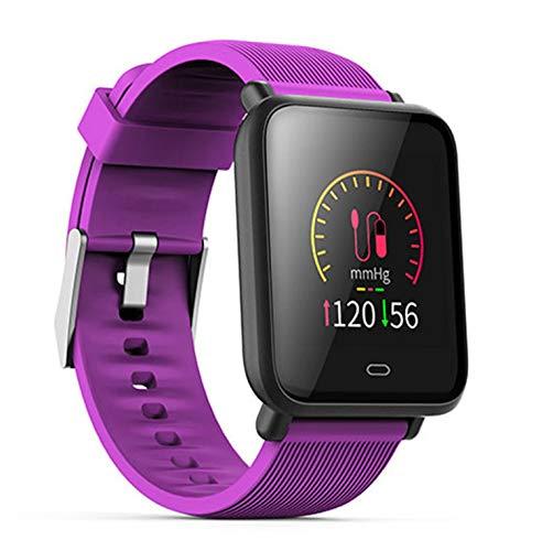 FXAOYWT Fitness Smart Watch Outdoor-Sport-Tracker IP7 wasserdicht Herzfrequenz Schlafüberwachung, Anruferinnerung, mehrere Sportarten,Purple