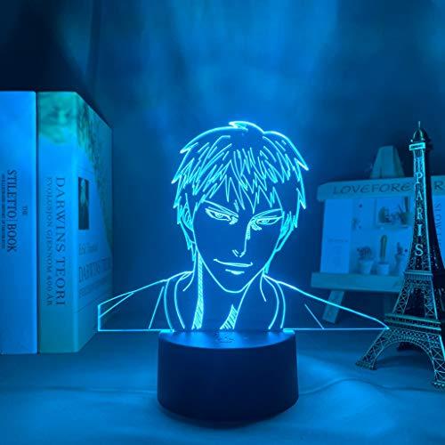 Anime Kuroko No Basuke Daiki Aomine Figura Led Luz de Noche para Decoración de Habitación Luz Brithday Regalo Manga Kuroko Baloncesto Lámpara 3D