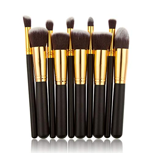 BIGBOBA 10 PCS/Set Makeup Brush Set Pennelli Trucco Professionali ,Nero, 16.5*10*2cm