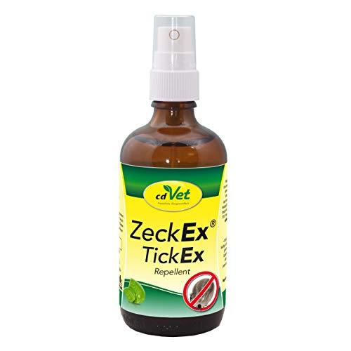 cdVet ZeckEx Zeckenabwehr-Spray 100 ml - Sofortschutz mit Langzeitwirkung für Mensch und Tier, natürliches Zeckenmittel ohne synthetische Zusatzstoffe, dermatologisch getestet