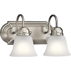 Kichler Lighting 5336NIS Two Light Bath, Brushed Nickel