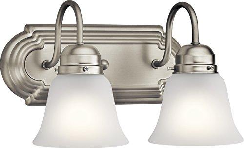 Kichler 5336NIS Vanity, 2-Light 200 Total Watts, Brushed Nickel