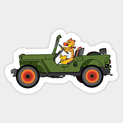 Cool Sticker for Cars, Trucks, Water Bottle, Fridge, Laptops Eugene Jeep in a Jeep Stickers (3 Pcs/Pack)