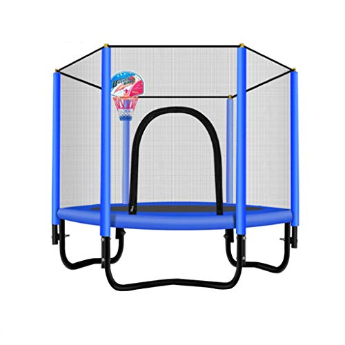 Xuping Baby Round Garden Trampoline Family Children's Indoor Safety Net Safety Cover Outdoor Pink Blue (Color : C1)