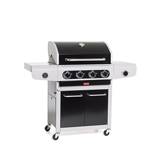 Barbecue gaz Noir 4 brûleurs