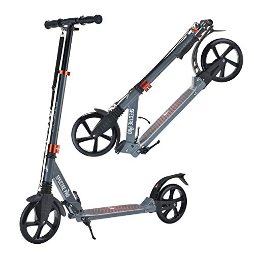 Apollo XXL Wheel Scooter 200 mm - Spectre Pro es un City Scooter de Lujo con suspensión Doble, City Roller XXL Plegable y Ajustable en Altura, Grande Kick+B3 Scooter para Adultos y niños