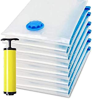 Rayking Vacuum Space Saver Reusable Sealer Storage Bags 60x80cm, With Suction Pump, Pack Of 7