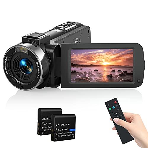Videokamera Camcorder, Melcam 1080P 30FPS Vlogging Kamera Recorder für YouTube, FHD IR Nachtsicht Camcorder 3.0  IPS-Bildschirm 16X Digital Zoom Digitalkamera mit Fernbedienung