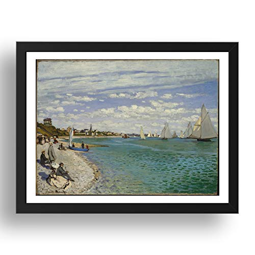 Period Prints Bilderrahmen Regatta at Ste Adresse, 1867 von Claude Monet, 17 x 13 (A3)